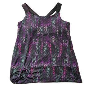 2/$20 Gaiam Yoga Tank Top XL Purple & Black